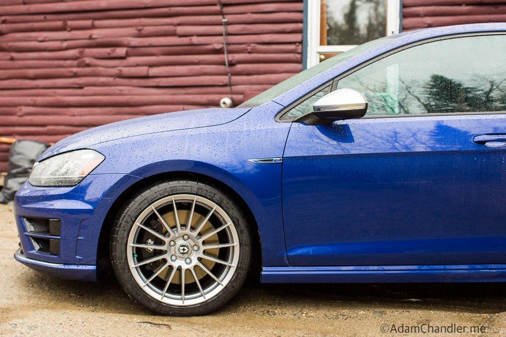 "Volkswagen Golf R - HRE FlowForm 18"" FF15, 18x8.5 w/ Michelin"
