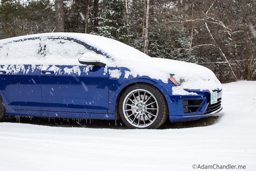 Golf R Last Snow of 2016